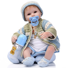 Reborn Baby Doll 42cm Realistic Newborn Baby Dolls Reborn Lifelike Full Body Silicone Babies Handmade Toddler Dolls Toys FOR KID 50cm reborn babies dolls toys for children soft cloth body silicone vinyl newborn baby dolls high quality doll toys xmas gift