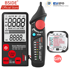 BSIDE ADMS7 Voltage Tester 3.5 Large LCD Digital Smart Multimeter 3-Line Display TRMS 6000 Counts DMM with Analog Bargraph