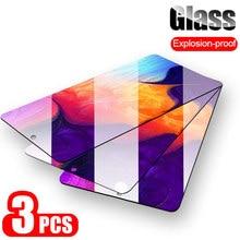 3 peças de vidro protetor protetor de tela para samsung galaxy a50 a30 a20 para samsung a10 e a40 a70 a 50 a20e 20 70 s vidro temperado