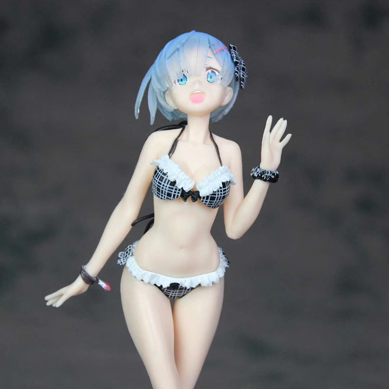Zero Life in a Different World from Zero Anime Rem Bikini EXQ Swimsuit ver. Boxed 22cm PVC Action Figure Collection model toy 2