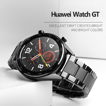 Ceramic band for Huawei watch GT 2 strap Samsung Gear S3 Frontier band S 3 GT2 46 22 mm 22mm bracelet Galaxy watch 46mm band