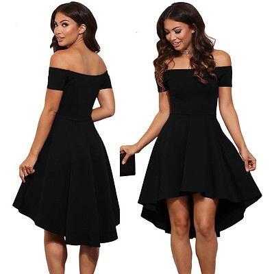 Hot Women Elegant Summer Casual Off Shoulder Sexy Ladies Party Evening Solid Short Dress