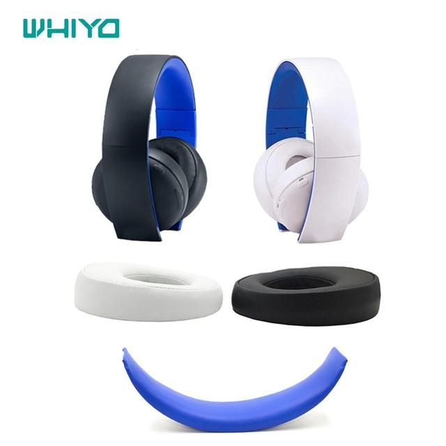 Wiyo الأصلي استبدال منصات الأذن لسوني الذهب سماعات رأس لاسلكية PS3 PS4 7.1 الظاهري الصوت المحيطي CECHYA 0083 عقال وسادة