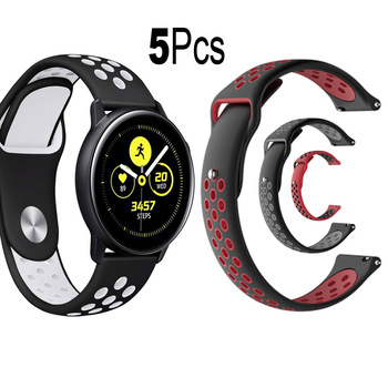 20mm Watch Strap For Samsung Galaxy Watch/Active 2 40mm/42mm/44mm Bracelet Watchband Silicone Wristband Replacement Wrist Band sport soft silicone bracelet wrist band for samsung galaxy watch 42mm sm r810 replacement smart watch strap wristband watchband