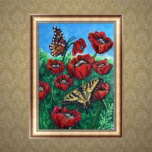Butterfly 5D DIY Special Diamond Painting Embroidery Drill  Needlework Cross Craft Stitch Kit Home Decor Q6PE tree 5d diy round diamond painting embroidery drill needlework cross craft stitch kit home decor q6pe