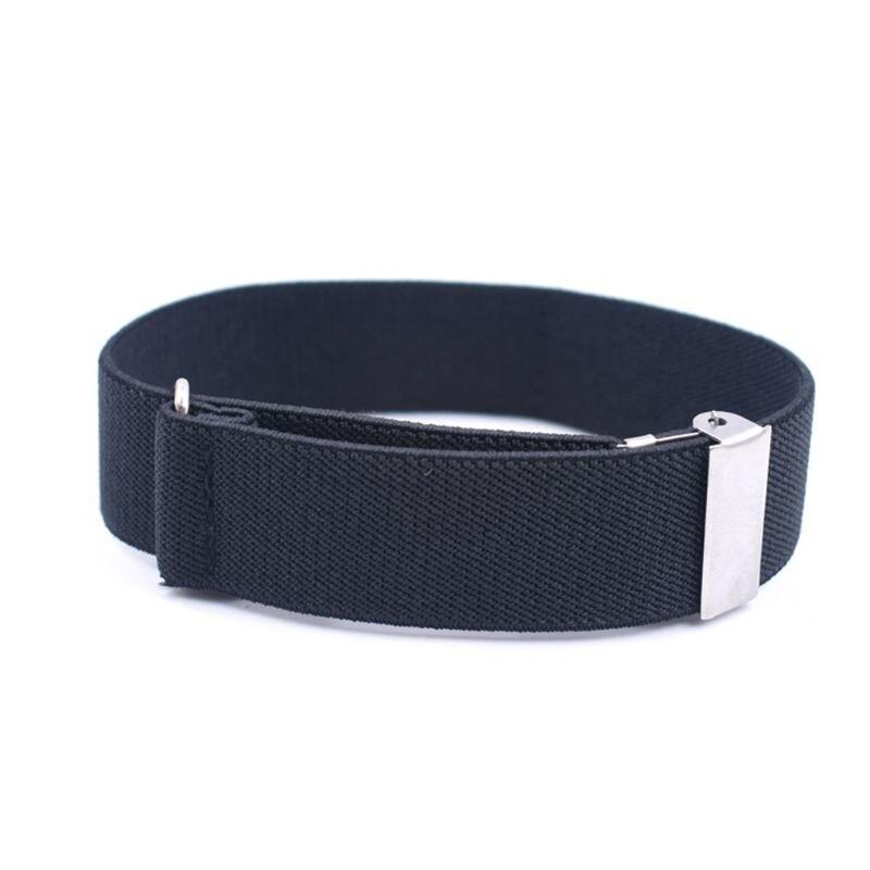 2pcs Mens Groom Shirt Sleeve Holder Metal Non-slip Strap Elastic Stretch Armband 875B