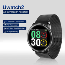 лучшая цена Uwatch 2 Smart Watch Men Smartwatch IP67 Waterproof Heart Rate Monitoring Fitness Bracelet Sport Smarrt Watches For xiaomi IOS