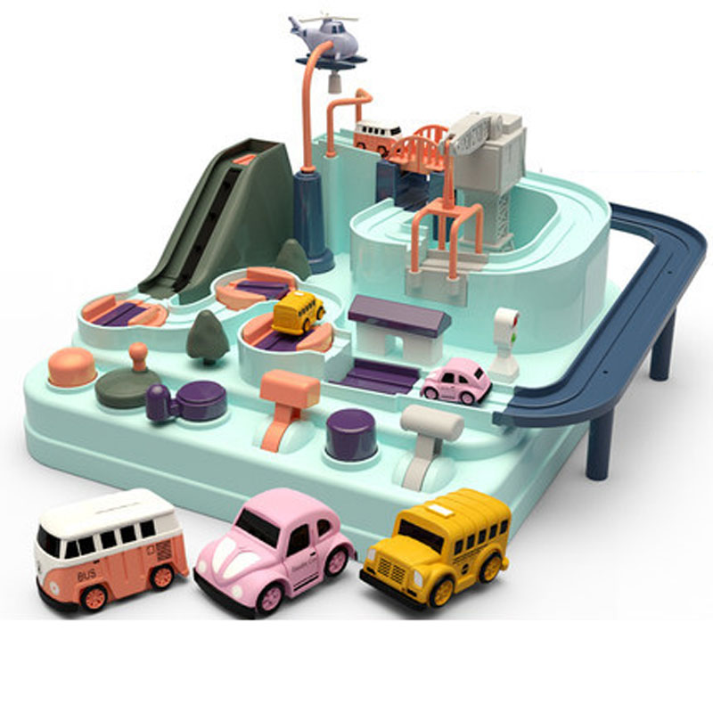 Ручной автомобиль Приключения трек игрушки набор для детей образовательные спасательные транспортные средства игрушки на тему приключени
