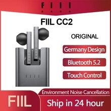Original FIIL CC 2 CC2 Wireless Bluetooth 5.2 Earphones TWS Gaming Headset Noise Canceling Ear Buds ENC Earphone Type-c Earbuds