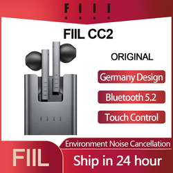 Original FIIL CC 2 CC2 Wireless Bluetooth 5.2 Earphones TWS Gaming Headset Noise Canceling Ear Buds ENC Earphone Type-c Earbuds