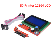 For 3D Printer 12864 LCD Screen Display  Control Ramps Smart Parts 1.4 Controller Panel Monitor Motherboard Blue Module 33d printer kit smart parts ramps 1 4 controller control panel lcd 2004 module display monitor motherboard blue screen
