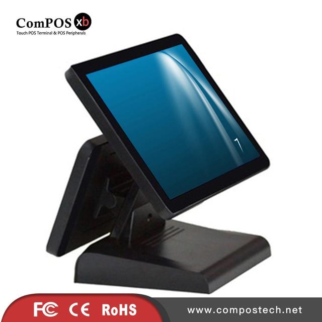 Composxb – caisse enregistreuse avec écran tactile de 15 + 12 pouces, système de caisse avec tiroir-caisse 2