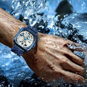 Image 5 - FORSINING Top Luxury Brand Watch Mens Auto Mechanical Magnet Strap Fashion Royal Transparent Skeleton Wristwatch Clock мужские