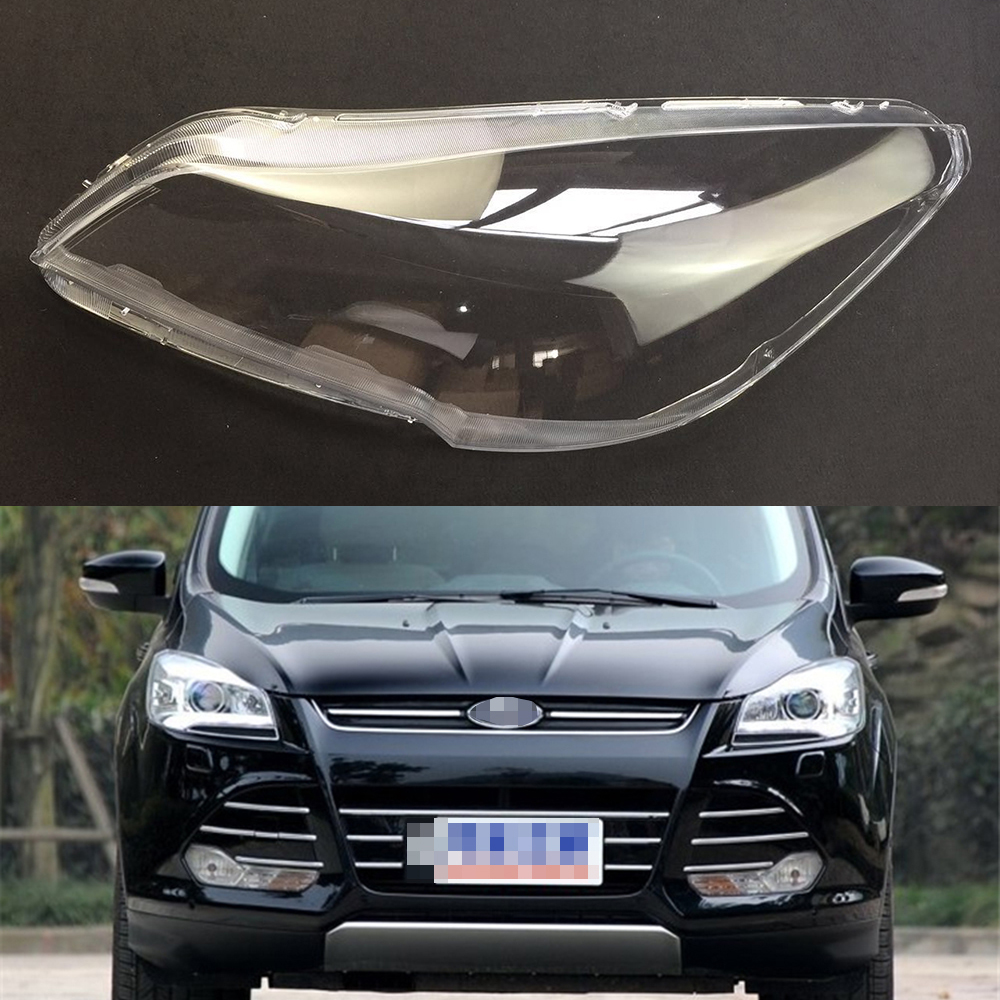 For Ford Kuga 2013 2014 2015 Headlight Lens Car Headlamp Cover Replacement Clear Glass Auto Shell