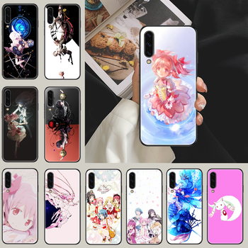 puella magi madoka magica Phone case For Samsung Galaxy A 3 5 7 8 10 20 21 30 40 50 51 70 71 E S 2016 2018 4G black painting image