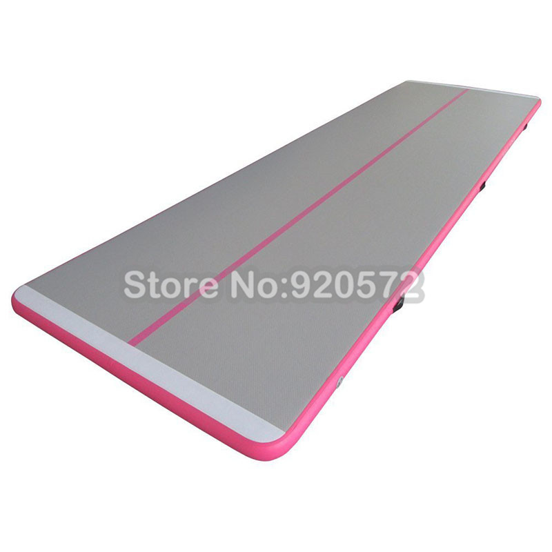 Free Shipping ! Free Pump ! 3m Long Pink Cheap Outdoor Gymnastics Mat Inflatable Air Floor Tumble Track Air Track
