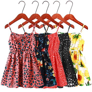 2020 Summer girls clothes fashion flower dresses for girls 3-12 year big child girls dresses New kids sleeveless beach dresses
