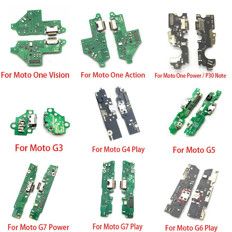 New Dock Connector Charging Charger Port Board For Motorola Moto G3 G5 G4 G6 G7 Play One Vision Action Power USB Flex Cable