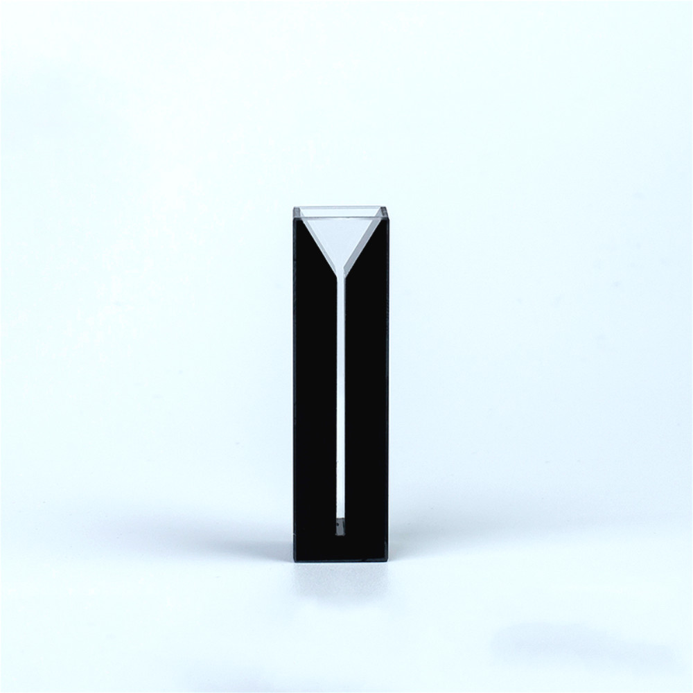 Trace Glass Cuvette Blackwall Slit 1mm Micro Absorption Cells 0.35ml Black Wall Glass Micro Cuvette ( Liquid Sample Cell ) 350ul