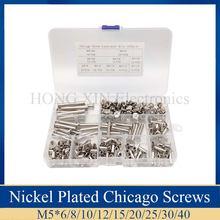 240 шт/компл Никель покрытием книги ногти Чикаго Винты финансовая