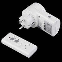 New Wireless Remote Control Home House Power Outlet Light Switch Socket 1 Remote EU Connector Plug DC 12V Hot Sale Dropshipping