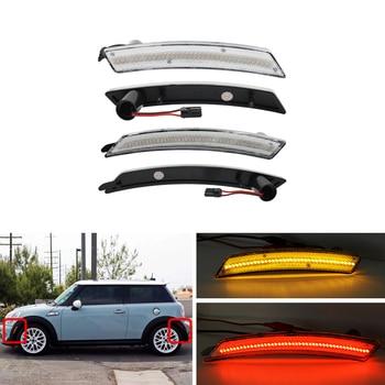 For Mini Cooper R55 R56 LCI R57 R58 R59 R60 R61 4PCs F&R Amber Red Led Side Marker Lights