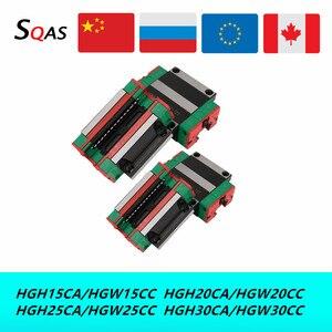 Envío rápido tamaño igual que HIWIN 4 Uds HGH15CA /HGW15CC /HGH20CA/HGW20CC/HGH25CA/HGW25CC/HGH30CA/HGW30CC bloque diapositivas para CNC