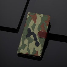 Camouflage ZTE Blade A3 2019 Case Stand PU Leather Flip Cover For ZTE Blade L8 A5 A7 A7000 2019 A530 A622 V9 Vita Phone Wallet(China)