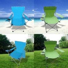 Açık kamp balıkçılık sandalyeler Oxford kumaş katlama taşınabilir kol Sandalye veranda balık kamp seti bardak tutucu ile taşıma çantası Sandalye