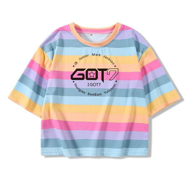 GOT7 CROP TOP T-SHIRT (2 VARIAN)