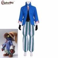 Cosplaydiy Game Final Fantasy IX Role Vivi Orunitia Adult Men Halloween Carnival Cosplay Costume Custom Made J5