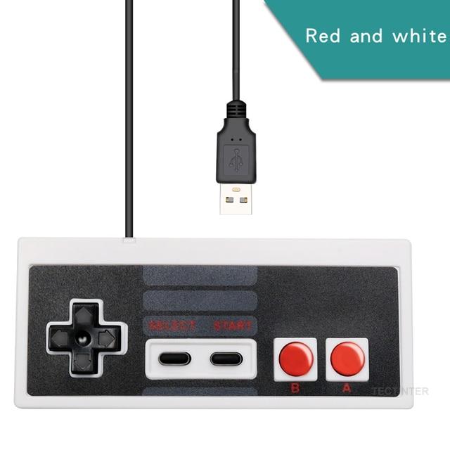 Для NES проводной USB контроллер геймпад PC/USB/NES компьютерные видеоигры Mando ручка Ретро USB для NES джойстик Controle Manette