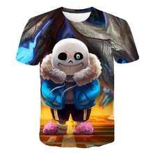 T-shirt «underconte» pour enfants, imprimé en 3D, tête de mort, Hip Hop, garçon, Cool, été, unisexe