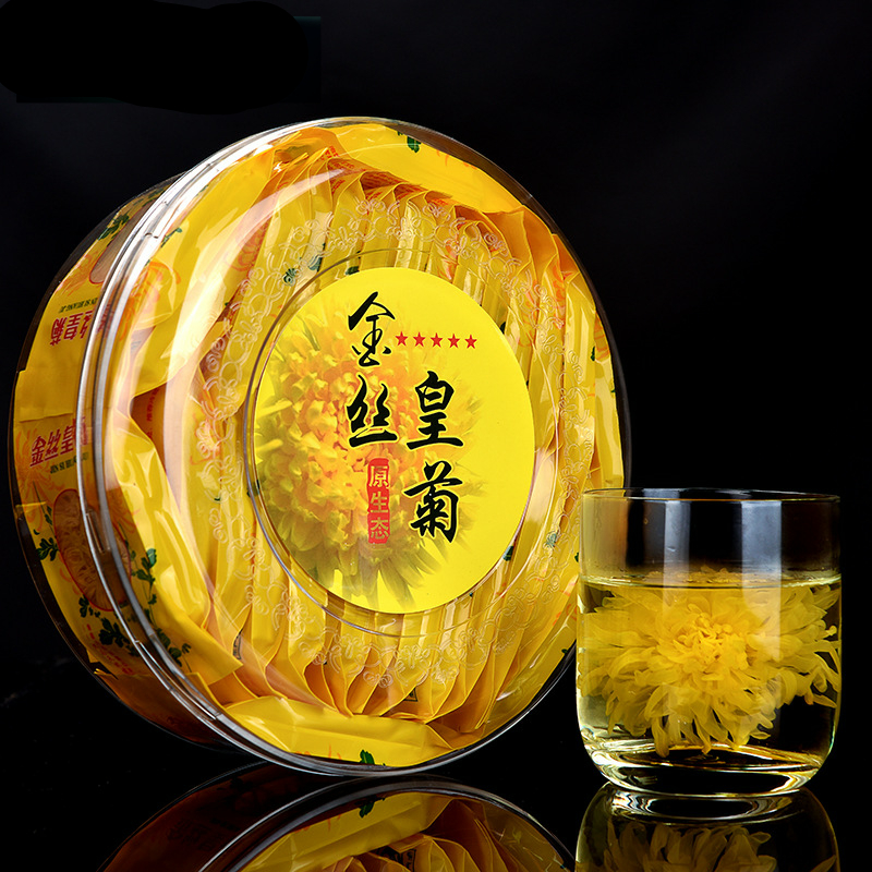 A Box Flower Tea Chrysanthemum Tea Gold Silk Royal Super Premium Tongxiang Chrysanthemum Tea Leaves Fire Healthy Food 30bags/Box