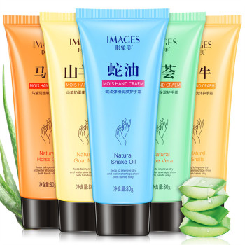 Moisturizing hand cream natural animal horse oil softens hand skin care anti cracking Hydrating Smooth snail hand lotion недорого