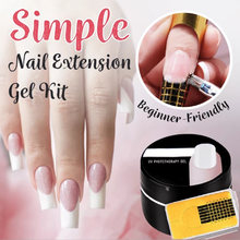 Gemakkelijk Nail Extension Gel Kit UV Gel Nagel Vorm Stickers Set Manicure Levert @ ME88(China)