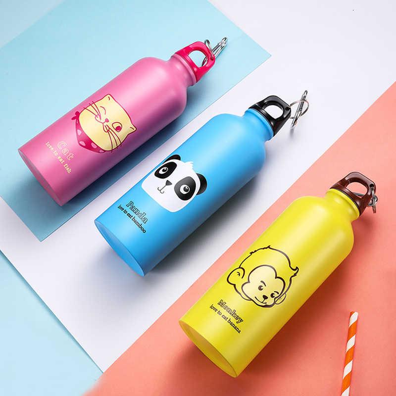 2019 Горячая Детская Подарочная портативная бутылка для воды с милым животным узором Бутылка Чашка для спорта на открытом воздухе Пешие прогулки бутылка для питья с капюшоном 500 мл