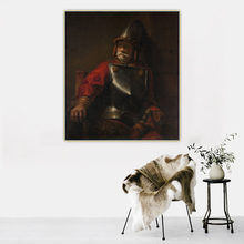 Citon《Old soldier In Armor》Rembrandt Canvas Art Oil Painting Famous Artwork Poster Picture Wall Background Decor Home Decoration