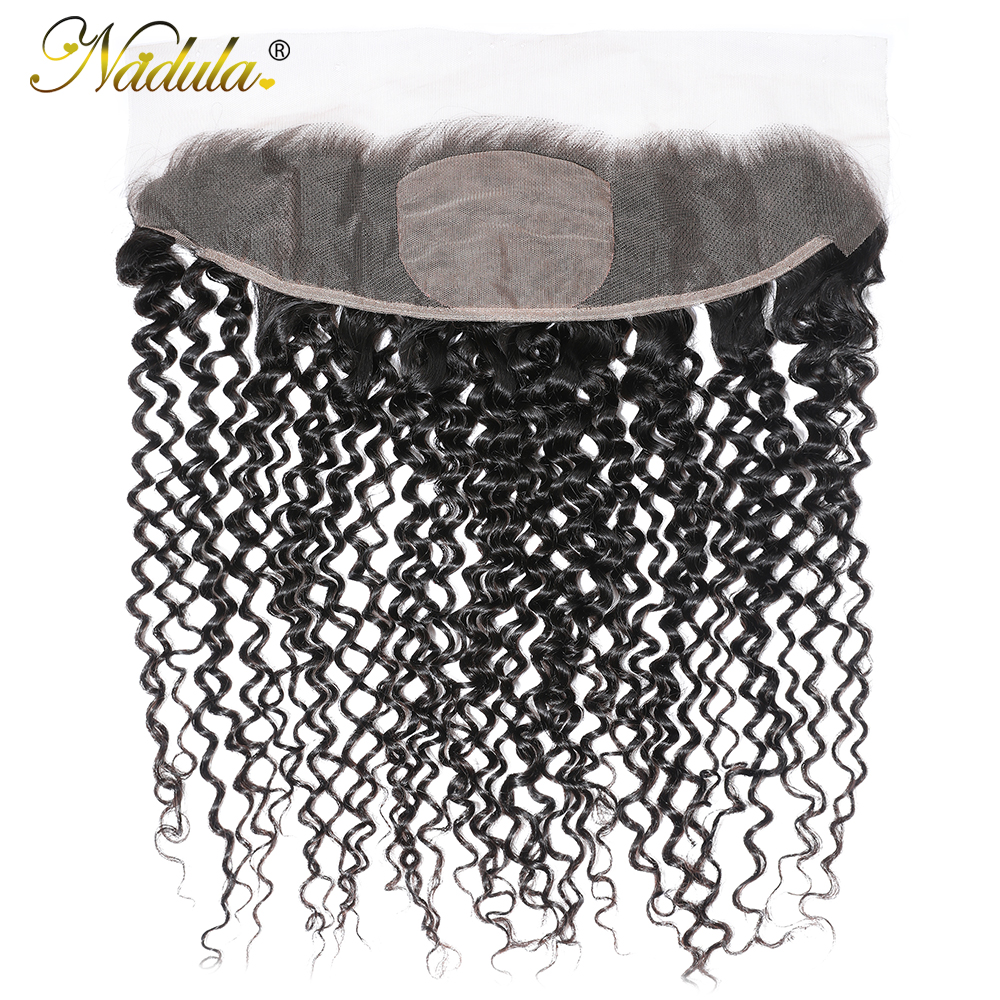 Nadula Hair  Body Wave Frontal Closure 100%  Frontal 13x4 Lace Frontal With Pre Plucked 4x4 Silk Base 1