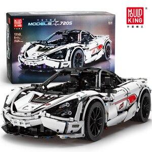 Строительные блоки 13145 New McLaren 720S APP RC Technic серии, гоночный автомобиль, кубики, модель MOC, игрушки, подарки