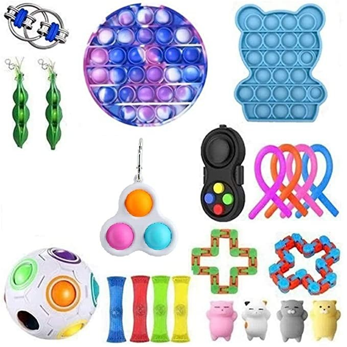 Antistress Fidget Toys Push Bubble Popit Squeeze Sensory Stress Reliever Autism Needs Adult Anxiety Focus Educational Toy Kids img4