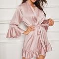 Женский атласный Шелковый кружевной халат, женский кружевной халат, женские халаты, одежда для сна, женский сексуальный халат для женщин, Пр...