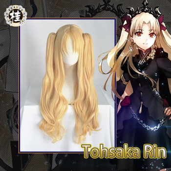 Pre-sale UWOWO Fate Grand Order Ereshkigal 80cm long Gold Double Tail Cosplay Hair - discount item  45% OFF Costumes & Accessories