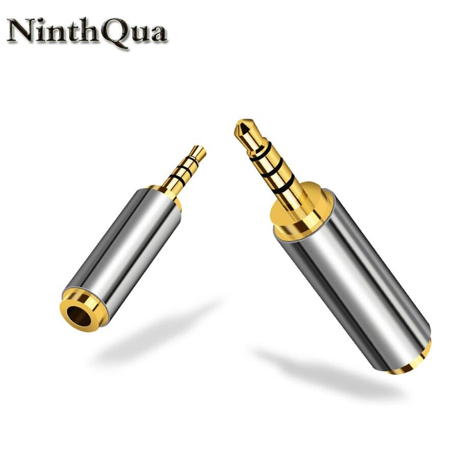 Adaptador de entrada de áudio, adaptador de entrada de áudio de 3.5mm a 2.5mm macho para aux, 1 peça cabo jack de fone de ouvido de alto-falante 3.5 para 2.5
