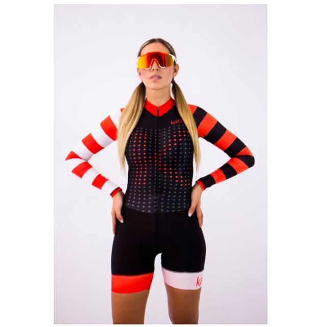 2020 mulheres profissionais triathlon manga longa conjunto skinsuit maillot ropa ciclismo aofly mtb bicicleta roupas macacão fino almofada esponja macaquinho ciclismo feminino manga longa roupas com frete gratis macaca 4
