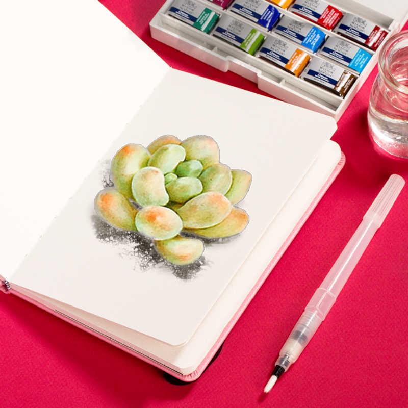 Gel de algodão profissional aguarela livro 24 folhas 300 g/g mão plana pintado aguarela para o artista estudante sketchbook arte fontes