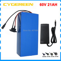 3000W 60V 21AH Lithium battery 60V electric bike battery 3000mah 30Q 5C 15A cell with 60A BMS 67.2V 2A Charger