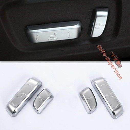 Chrome Seat Adjust Switch button Cover trim For <font><b>lexus</b></font> ES IS GS RC <font><b>RX</b></font> <font><b>2017</b></font> 2018 image