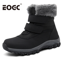 Women Boots Waterproof Winter Shoes Women Snow Boots Platform Keep Warm Mid-Calf Winter Boots With Fur Heels Botas Mujer