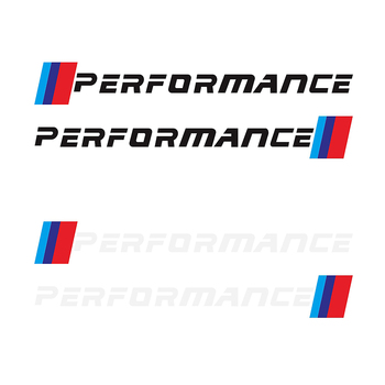 1 Pair PERFORMANCE Car Bumper Side Body Sticker Decals Graphics for BMW E90 E46 E39E60 F30 F10 F34 X3 X4 X5 E70 F15 X6 M3 M5 image